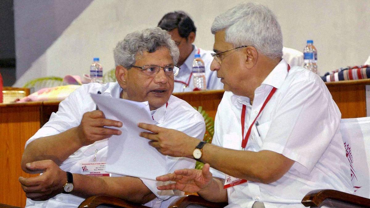CPI(M) General Secretary Sitaram Yechury with party leader Prakash Karat.