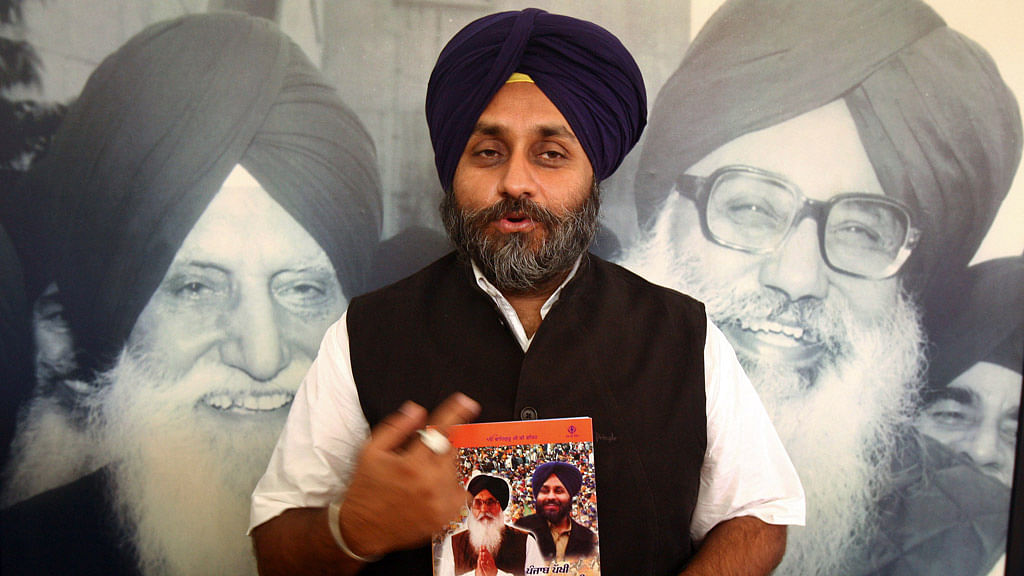 File picture of Deputy Chief Minister of Punjab, Sukhbir Singh Badal. (Photo: Reuters)
