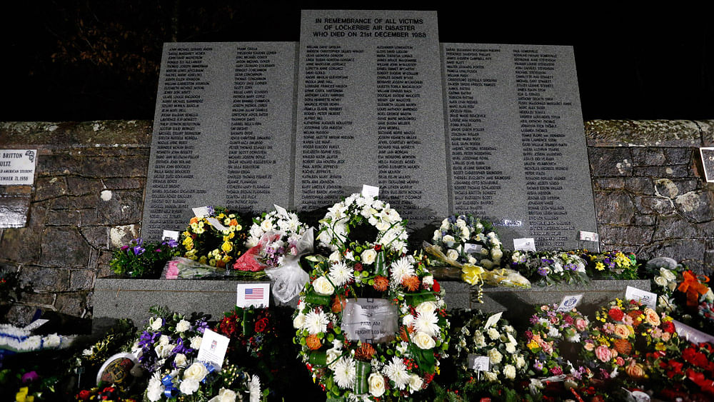 Wreaths are laid at a memorial event on the 25th anniversary of the bombing of Pan Am flight 103, in the Dryfesdale Cemetery, in Lockerbie, Scotland December 21, 2013.(Photo: Reuters)