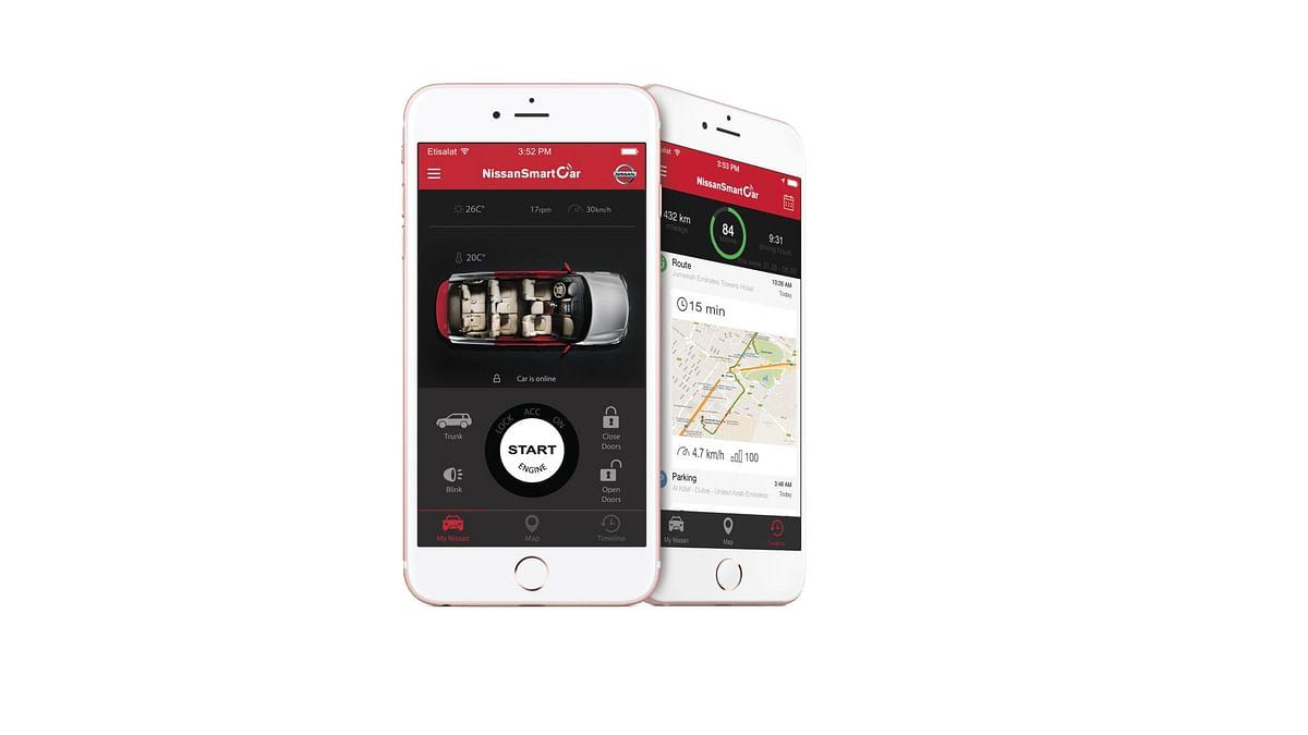 The Nissan SmartCar App. (Photo Courtesy: Nissan)
