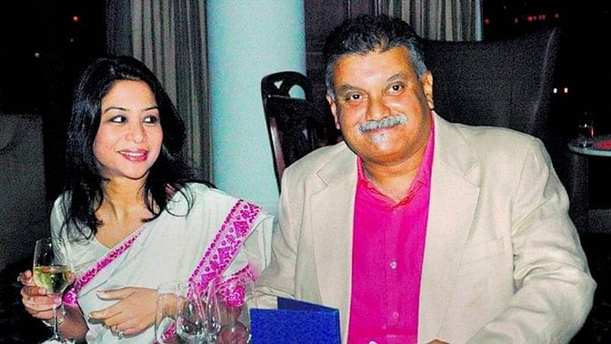 Indrani (left) and Peter Mukerjea (Photo altered by The Quint)