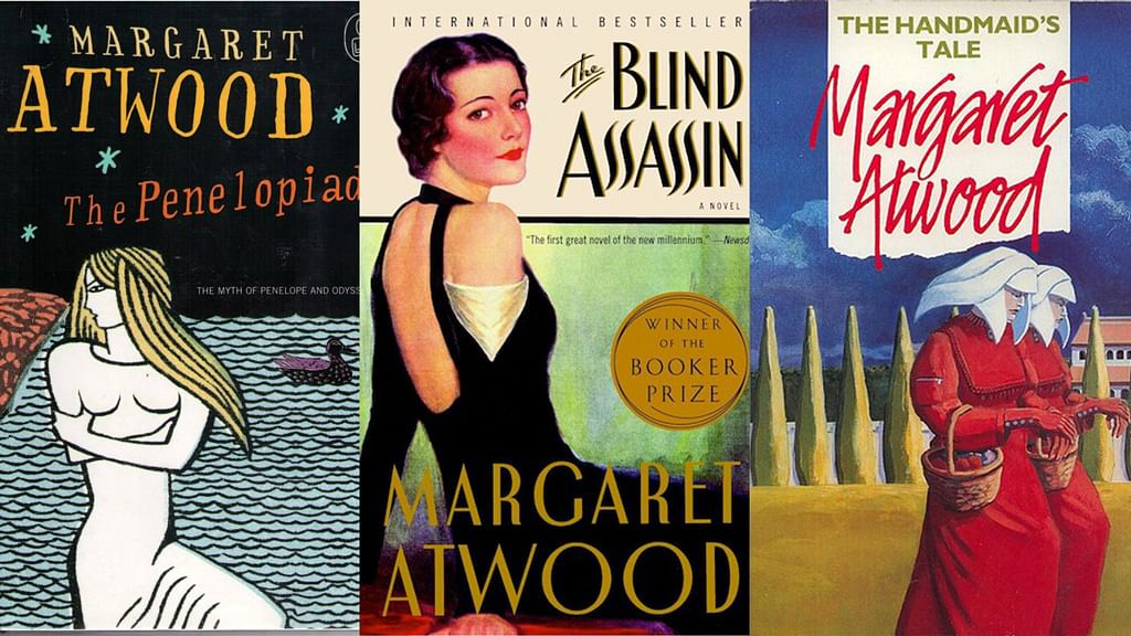Atwood's book jackets are always distinctive in their gorgeousness.