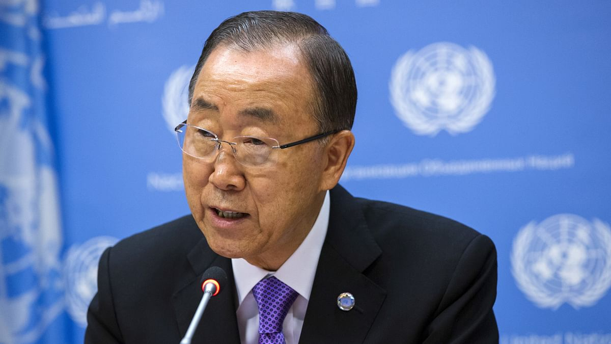 United Nations Secretary General Ban Ki-moon addressing the media  at UN headquarters in New York (Photo: Reuters)
