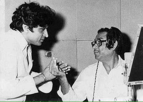 "File picture of lyricist Javed Akhtar (left) and actor-cum-singer Kishore Kumar (right) (Photo courtesy: <a href=""https://twitter.com/Javedakhtarjadu"">@<b>Javedakhtarjadu</b></a>)<a href=""https://twitter.com/Javedakhtarjadu""></a>"