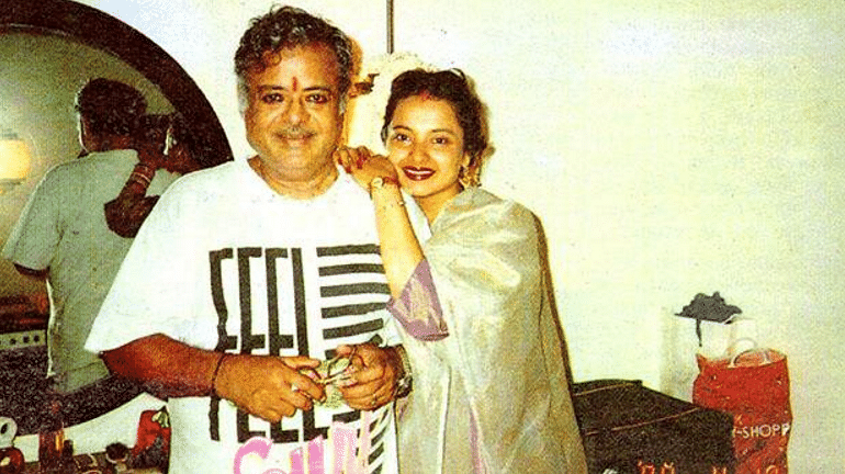 Gemini Ganesan with daughter Rekha in a rare photograph