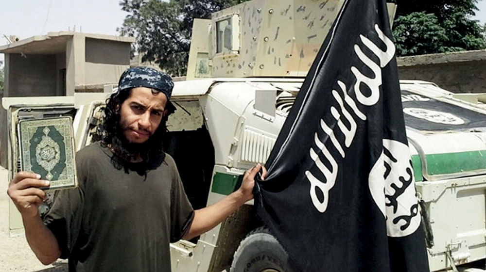An undated photograph of a man described as Abdelhamid Abaaoud that was published in the Islamic State's online magazine <i>Dabiq</i>. (Photo: Reuters)