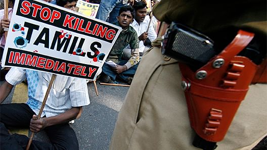 Protestors in New Delhi demanding to lift the ban on the Liberation Tigers of Tamil Eelam (LTTE). Picture used only for representational purposes.(Photo: Reuters)