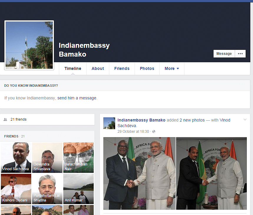 No official statement has been issued by the Indian embassy in Bamako.