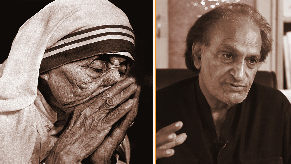 (Left) Raghu Rai's iconic photo of Mother Teresa published across the world.