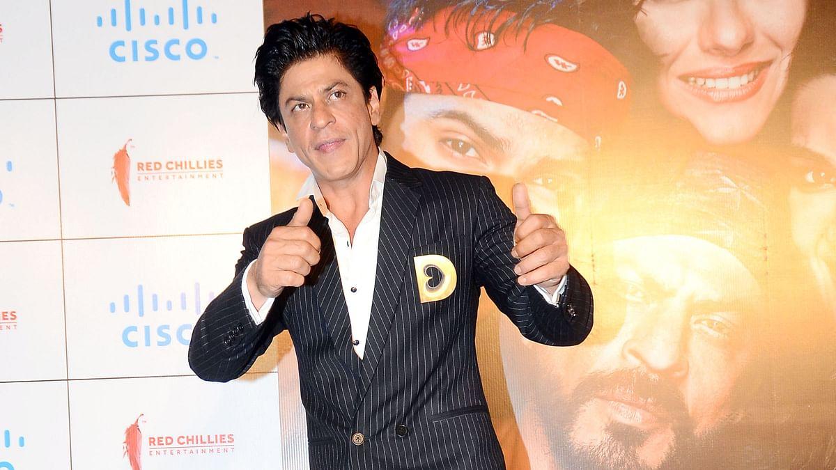 Shah Rukh Khan at the <i>Dilwale</i> trailer launch (Photo: Yogen Shah)