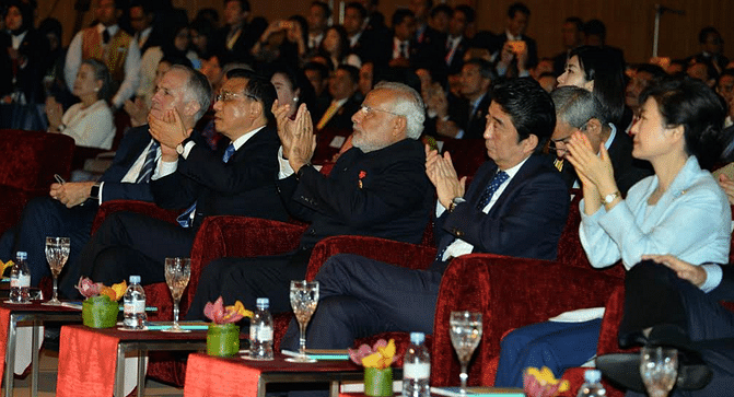 Prime Minster Narendra Modi at the 2015 ASEAN Summit (Photo: Twitter/@PIB_India)