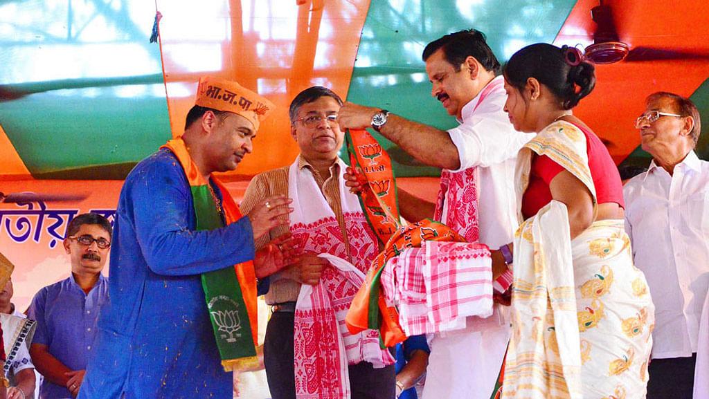Himanta Biswa Sarma joining BJP. (Photo: Facebook/Himanta Biswa Sarma)