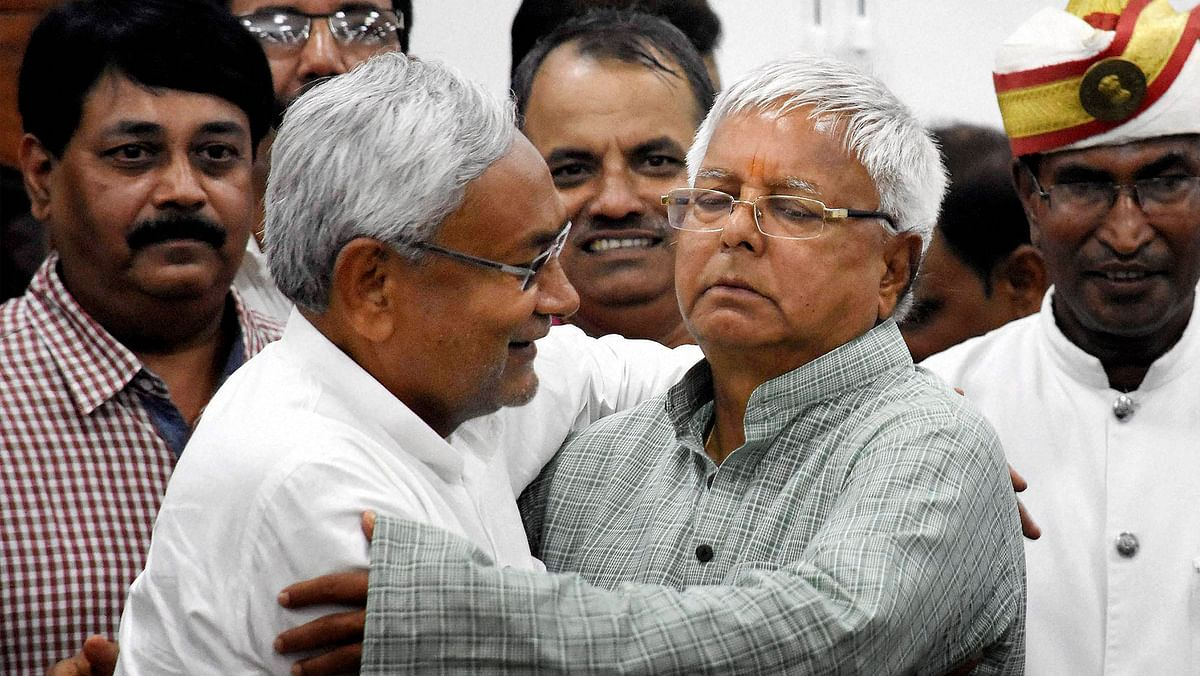 File photo of Lalu Yadav and Nitish Kumar.