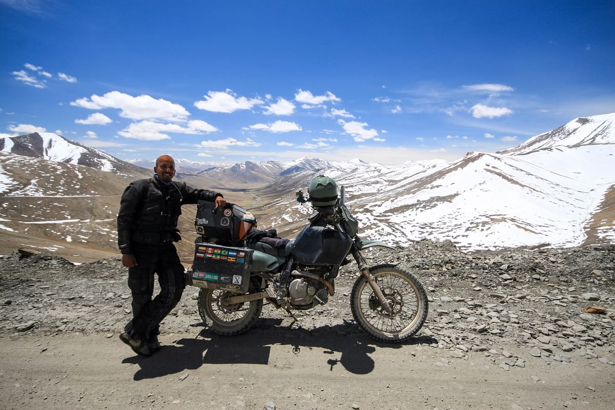 In March 2010, I quit my job and began a one-way motrocycle journey back home to India. (Photo Courtesy: Jay Kannaiyan)