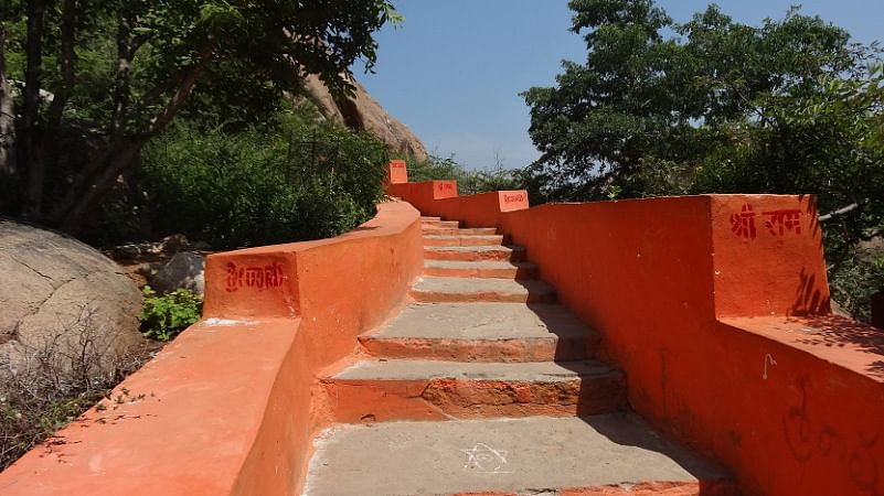 Steps Leading to Anjaneya Hill (Monkey Temple). (Photo Courtesy: Sonal Kwatra Paladini/Drifter Planet)