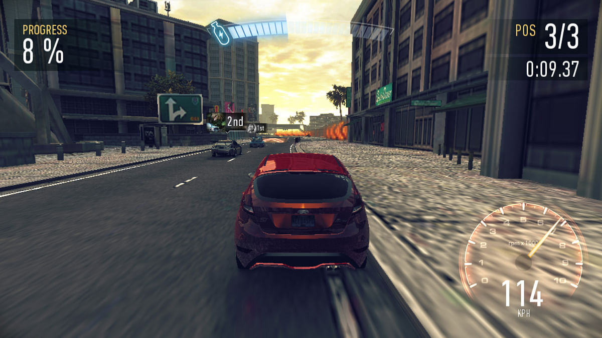 This is how Need For Speed: No Limits looked like on the HTC Desire 828. (Photo: <b>The Quint</b>)