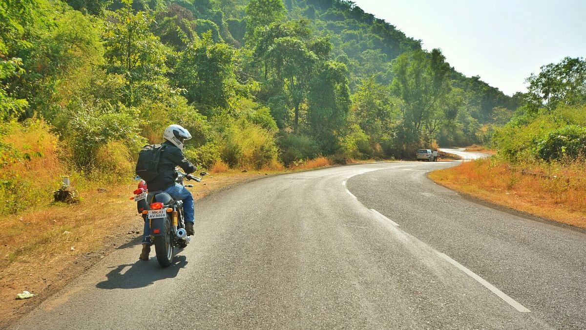 Biker standing still on the highway. (Photo: <b>The Quint</b>)