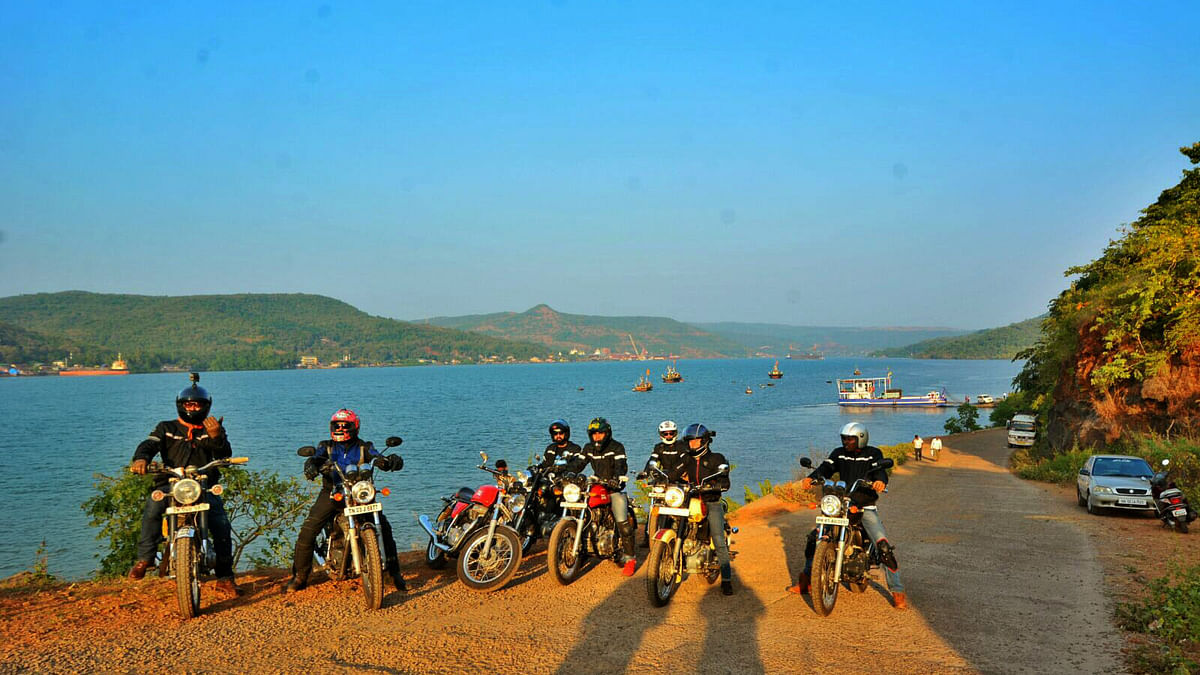 Bikers geared up to start their journey. (Photo: <b>The Quint</b>)
