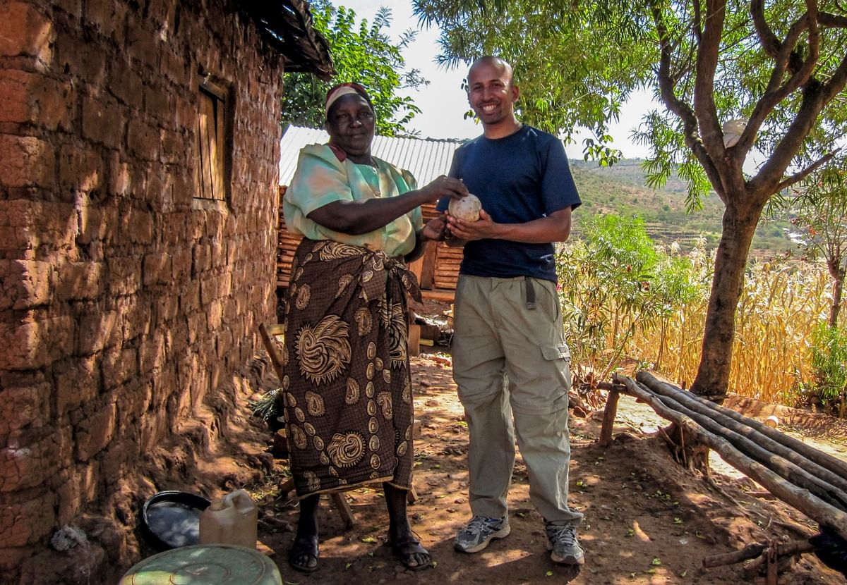 Me with a local in Kenya. (Photo Courtesy: Jay Kannaiyan)