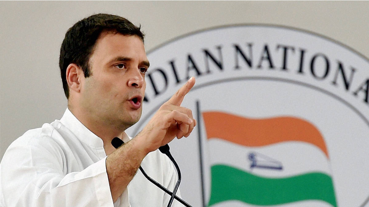 Congress vice president Rahul Gandhi addressing a function in New Delhi. (Photo: PTI)