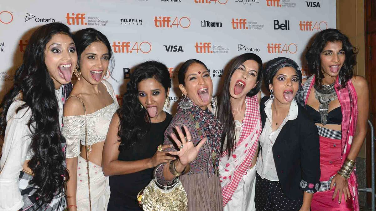 The cast of <i>Angry Indian Goddesses </i>at the Toronto International Film Festival 2015. (Photo: TIFF)
