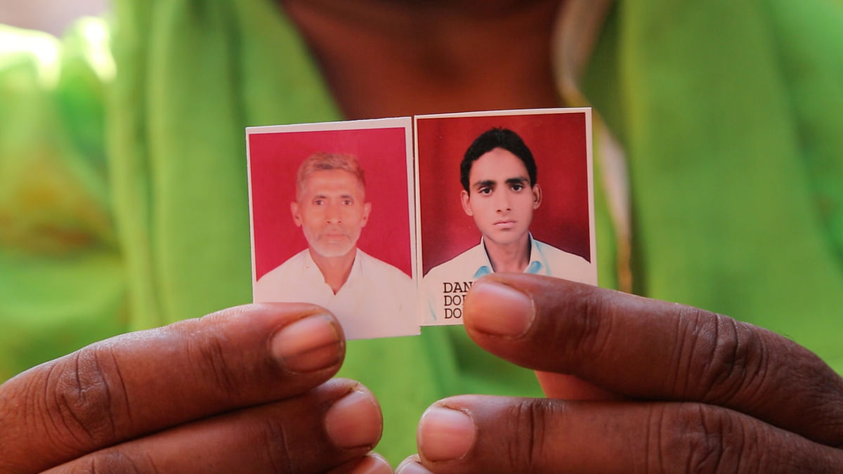 Pictures of Akhlaq and his son Danish.