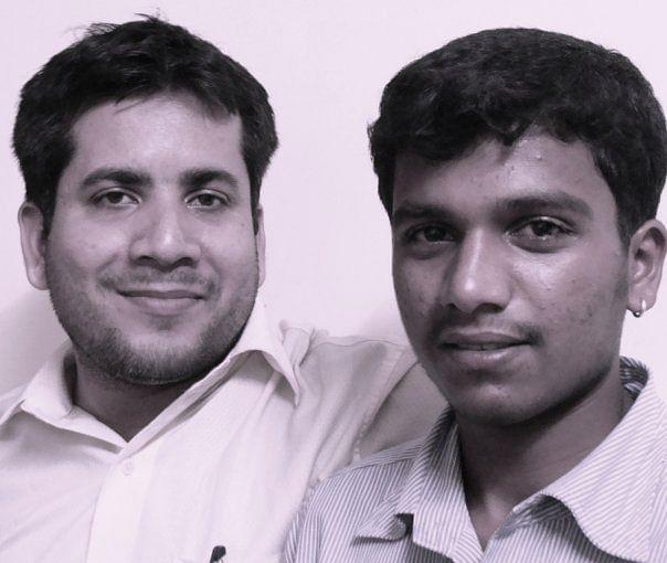 Sourav Mishra (left) with saviour angel Kishor Pujari. (Photo: Sourav Mishra)
