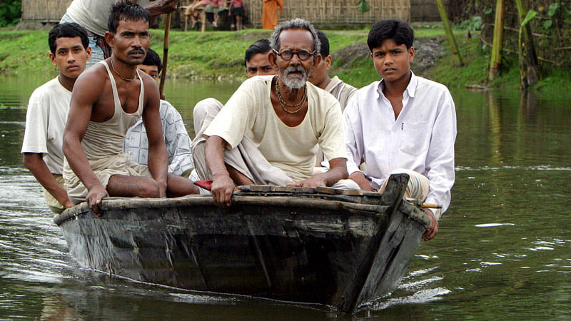 Residents return to their homes at Dasiarchhara Indian enclave from Bangladesh territory. (File Picture: Reuters)