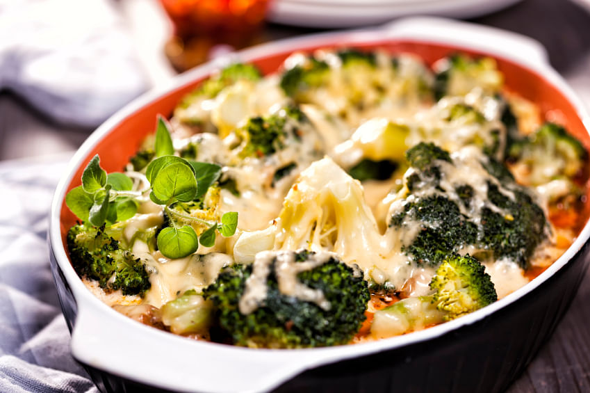 The broccoli and cheese casserole is one of the star side dishes on Thanksgiving. (Photo: iStock)