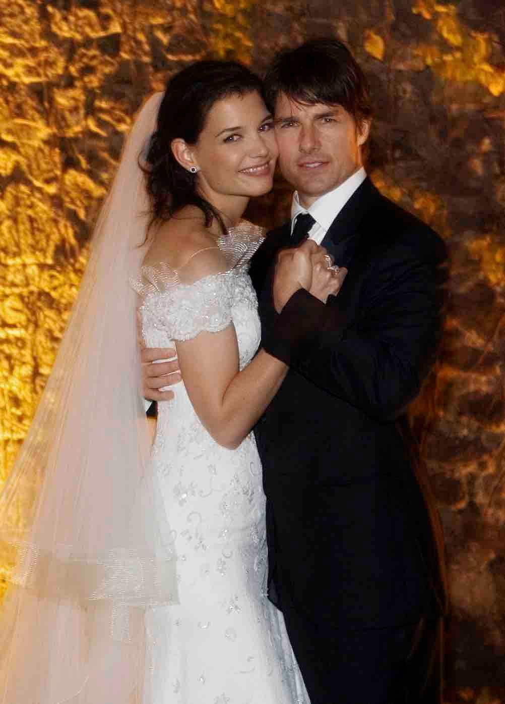 Tom Cruise and Katie Holmes on their wedding day (Photo: Reuters)