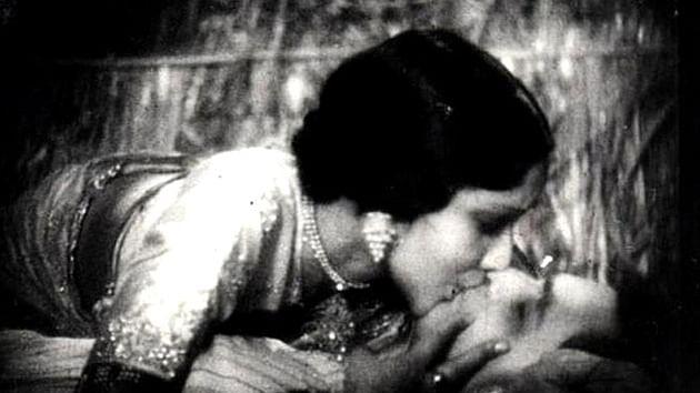 Devika Rani and Himanshu Rai in Karma (1933) (Photo: Youtube screengrab)