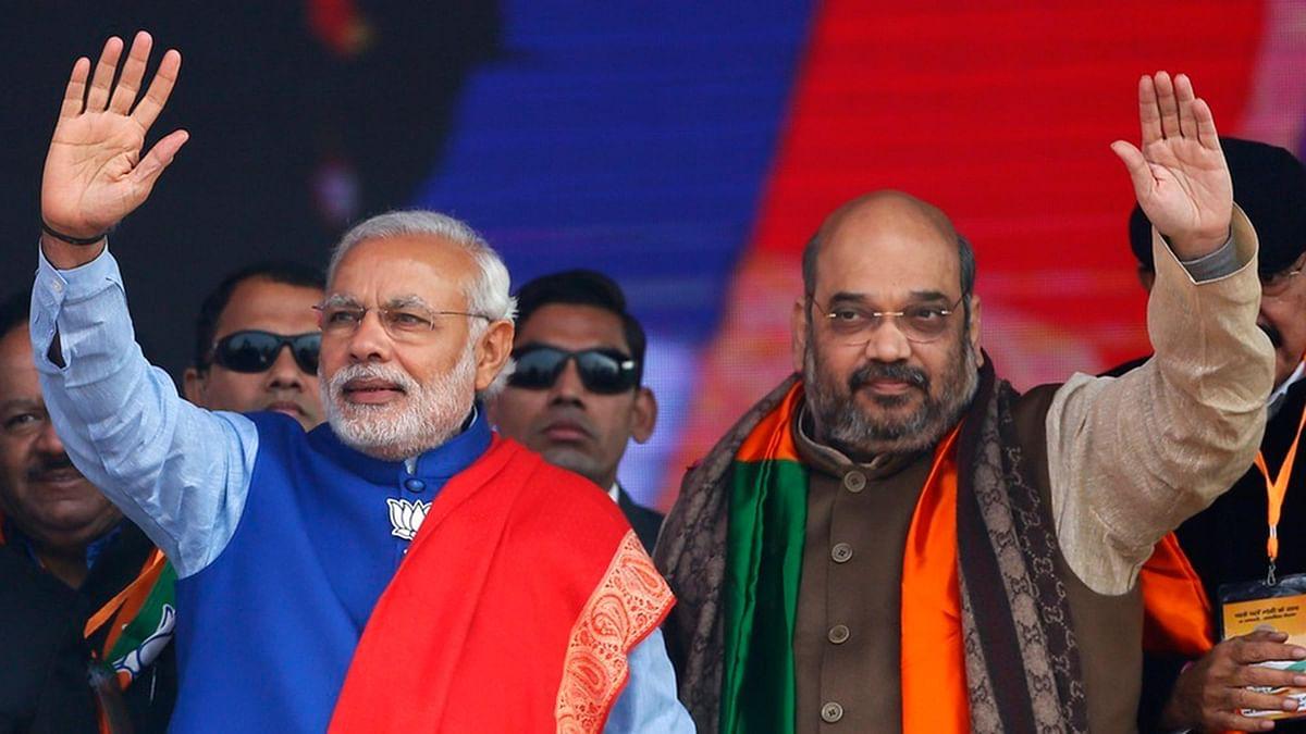 Prime Minister Narendra Modi with BJP President Amit Shah. (Photo: Reuters)
