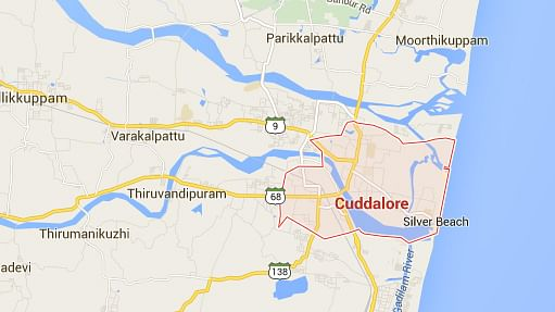 Cuddalore, the worst affected district in Tmail Nadu (Courtesy: Google Maps)