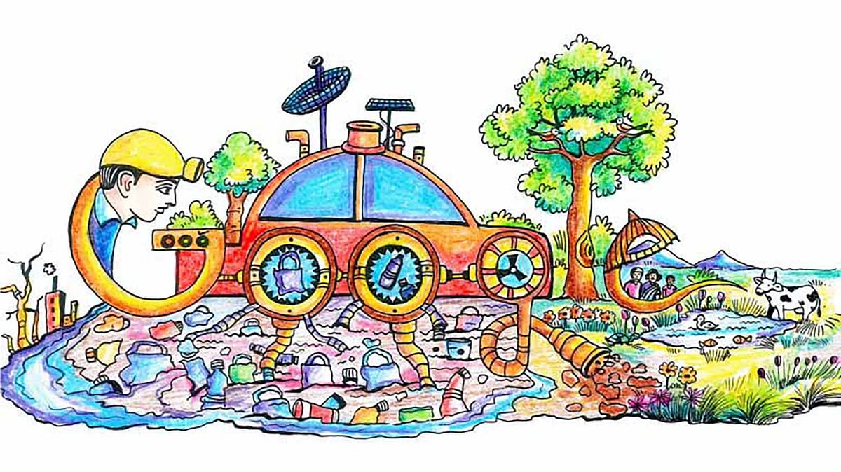 """The winning doodle was drawn by P Karthik, a student from Andhra Pradesh. (Photo: <a href=""""http://www.google.co.in/doodle4google/gallery.html#g=g1"""">Google</a>)"""