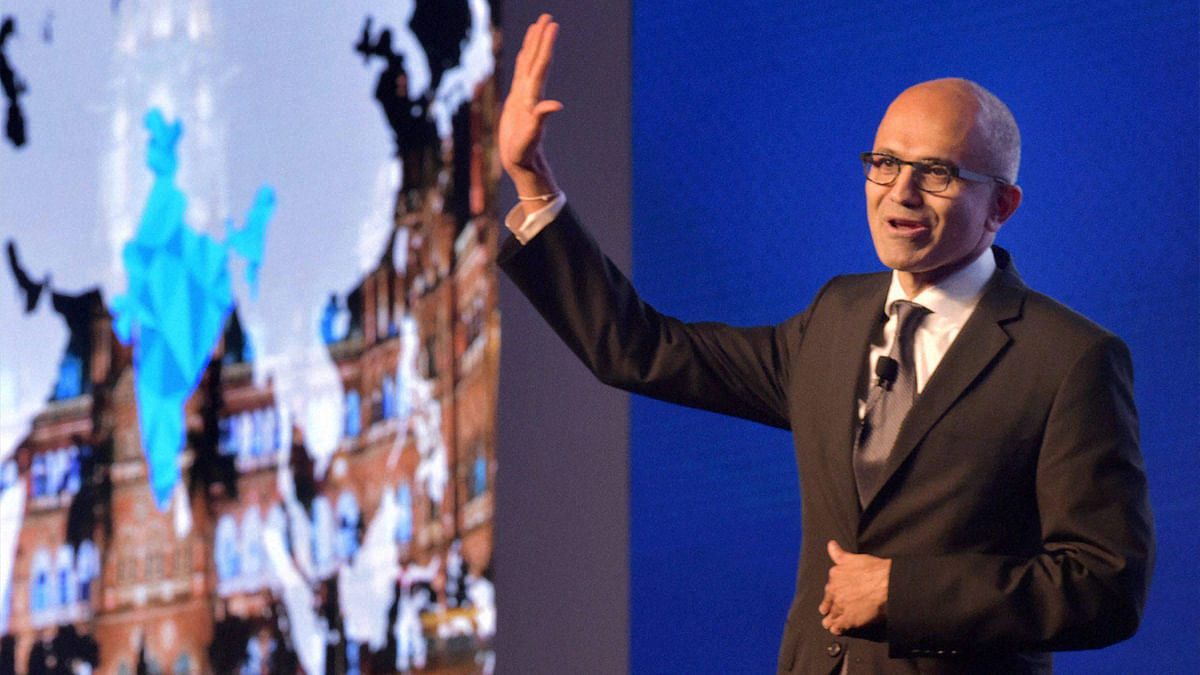 Microsoft CEO Satya Nadella. (Photo: PTI)