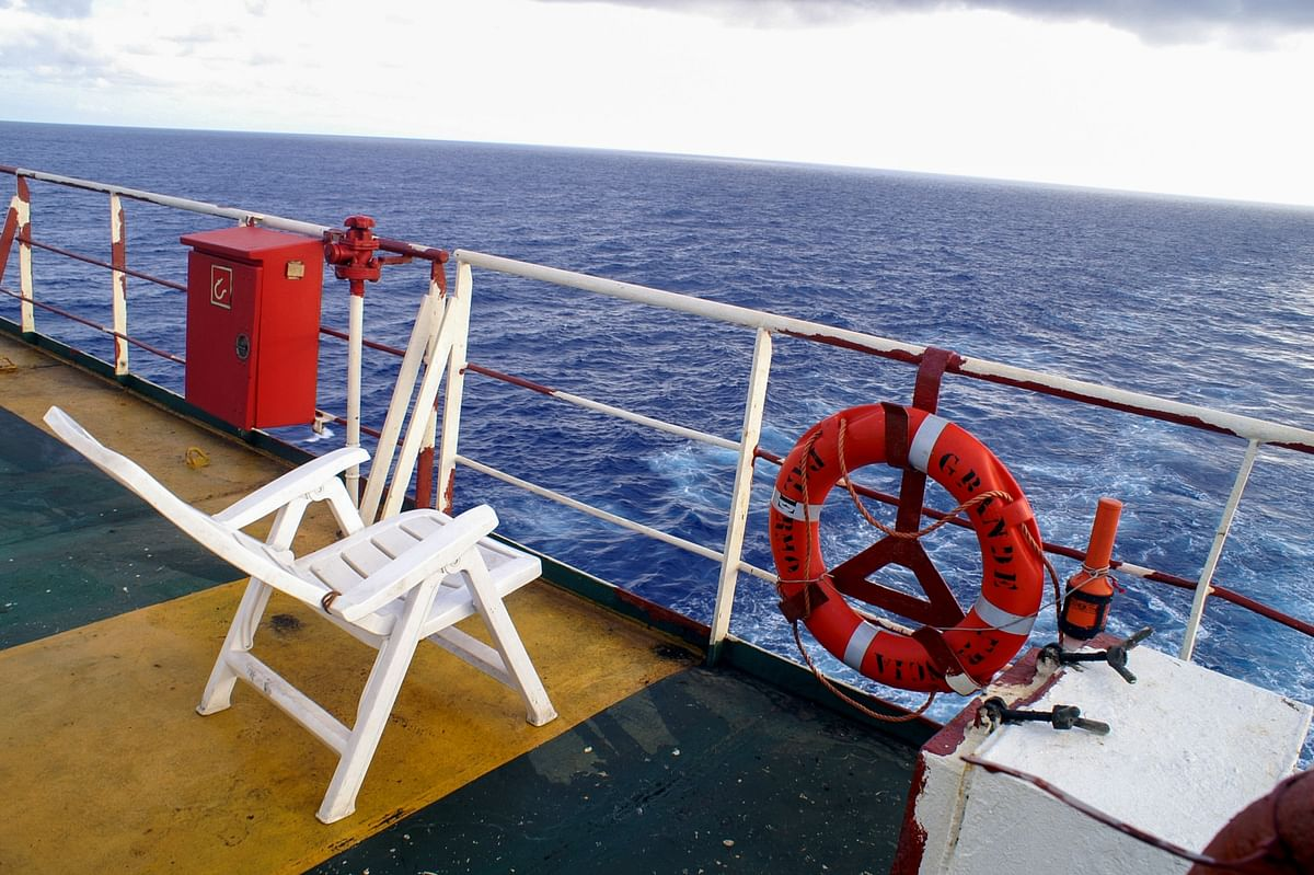 Taking in the view of the oceans from the back of the ship. (Photo Courtesy: Jay Kannaiyan)
