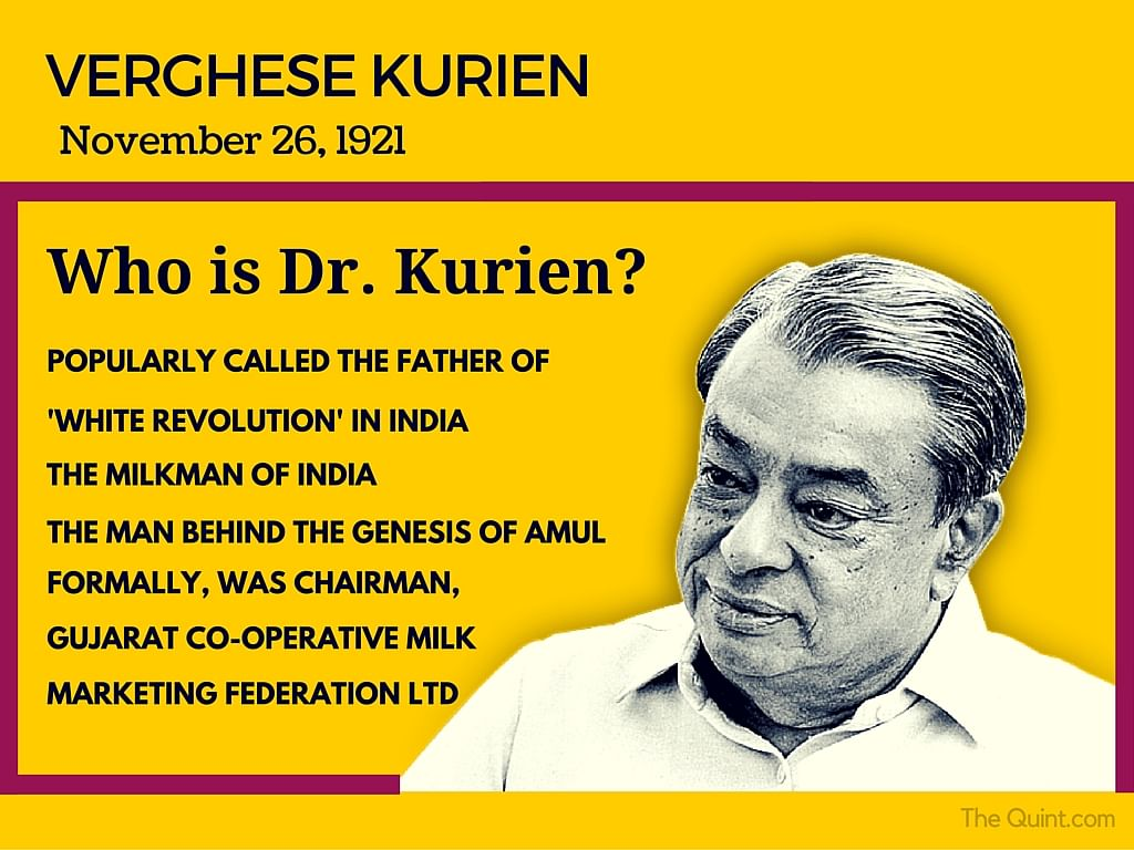 Remembering the 'Milkman of India', Dr Verghese Kurien