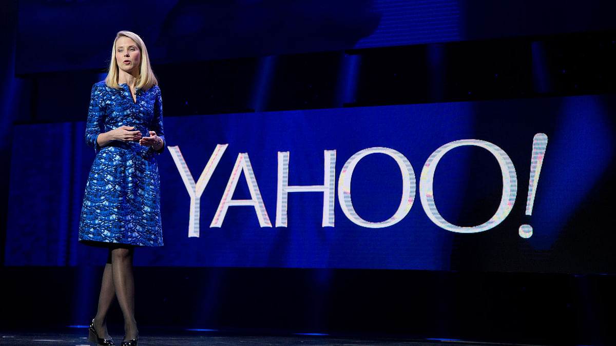 File photo of Yahoo President and CEO Marissa Mayer at the International Consumer Electronics Show in Las Vegas. (Photo: AP)