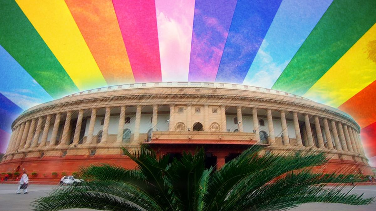 India is still a long way to muster enough legislative support to decriminalise homosexuality. (Photo altered by <b>The Quint</b>)