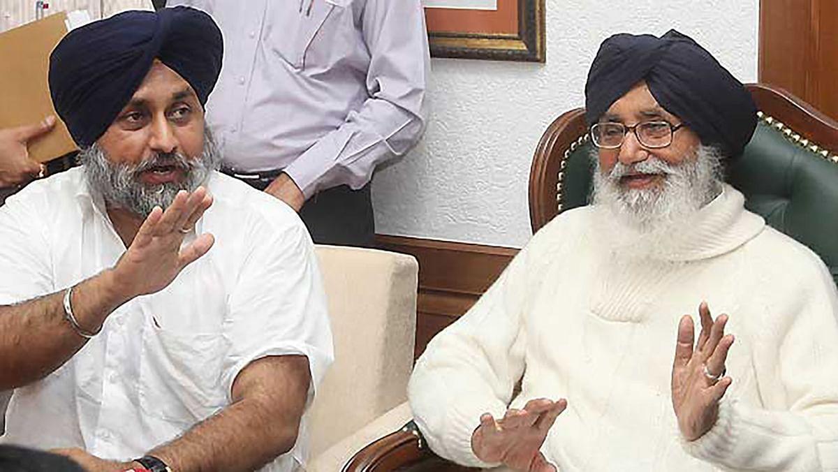 Deputy CM Sukhbir Singh Badal (left) and Chief Minister Parkash Singh Badal. (Photo: PTI)