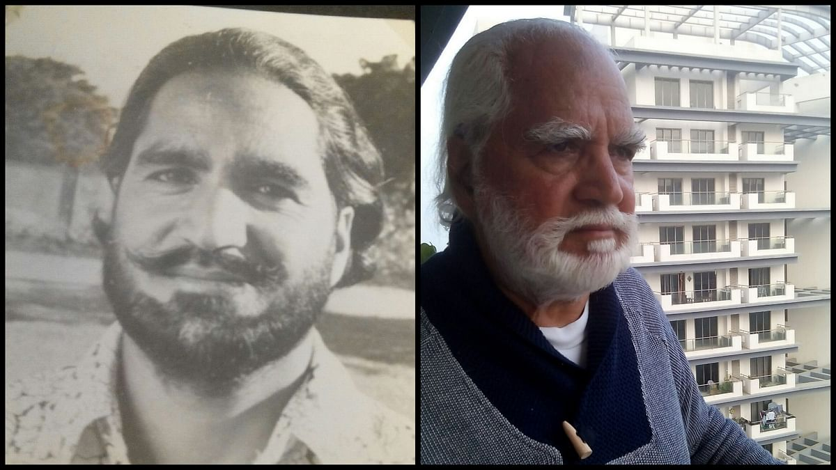 G-Man, as he was around 1971 (L) and as he is today, the retired Air Commodore BS Ghumman.