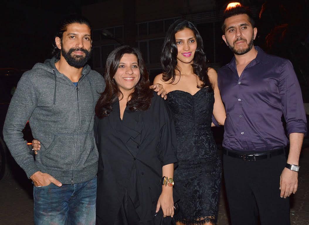 Farhan Akhtar attended the party with sister Zoya Akhtar and friend Ritesh Sidhwani (Photo: Yogen Shah)