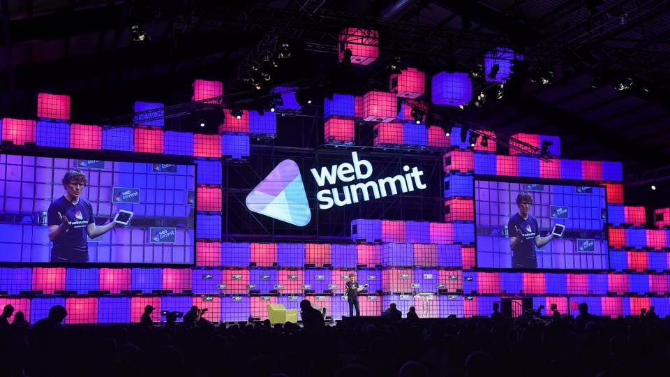 Paddy Cosgrave speaking at the Web Summit. (Photo: Web Summit)