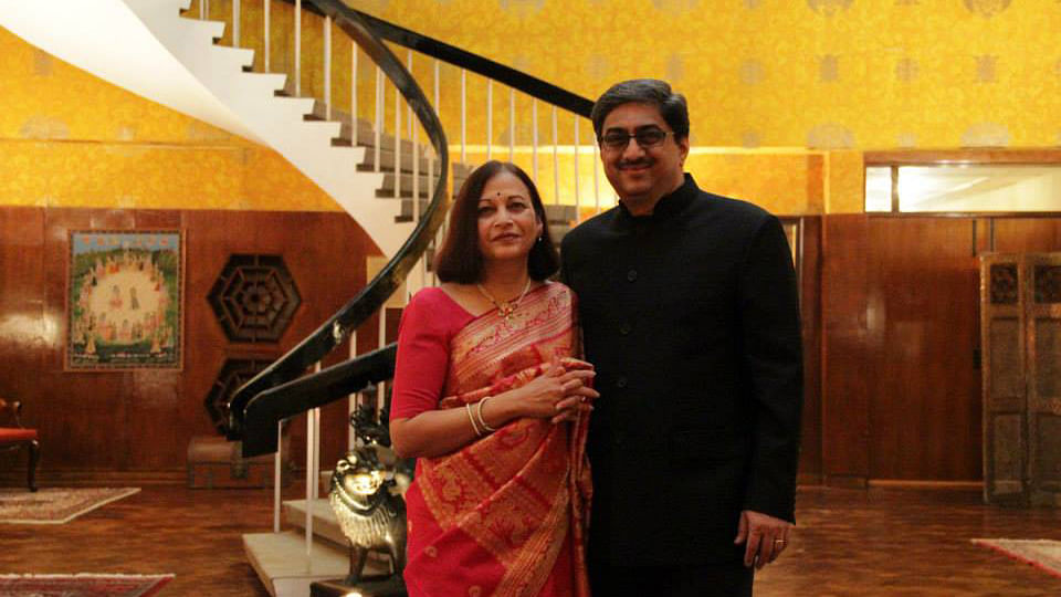 """Diplomat Gautam Bambawale and his wife. (Photo Courtesy: Facebook/<a href=""""https://www.facebook.com/gautam.bambawale"""">Gautam Bambawale</a>)"""