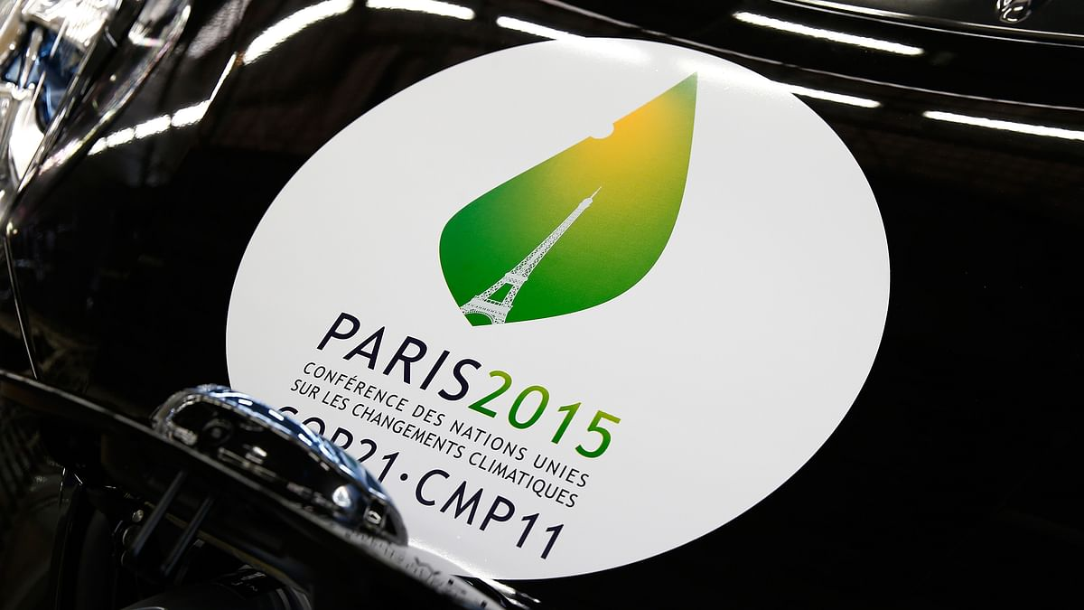 The logo of the COP21 Climate Change Conference. (Photo: Reuters)