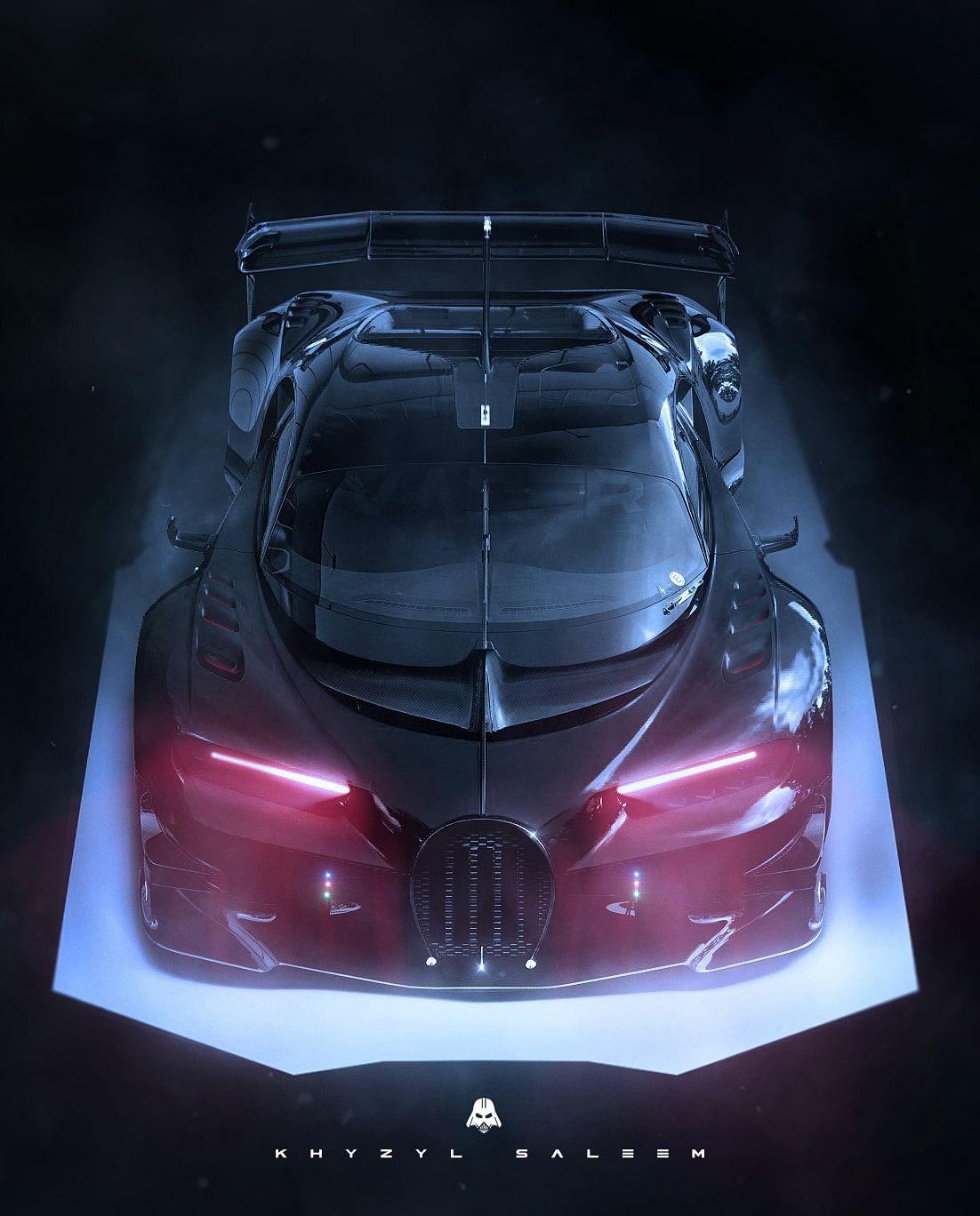 """The Darth Vader themed Bugatti Vision Gran Turismo. (Photo Courtesy: <a href=""""https://www.artstation.com/artwork/BkBK8"""">Khyzyl Saleem</a>)"""