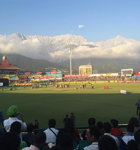 The duo stood out in the crowd when they went to watch a T20 match in Dharamshala!(Photo Courtesy: David and Katherine)