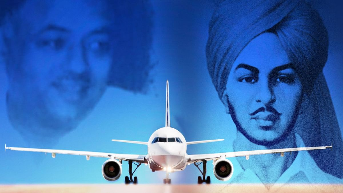 Mangal Sein (left) and Bhagat Singh supporters at loggerheads over naming Chandhigarh airport. (Photo altered by <b>The Quint</b>)