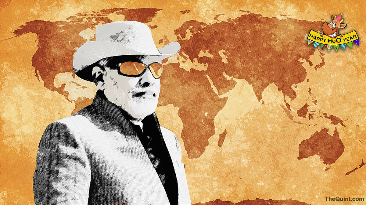 Narendra Modi, the globetrotter. (Photo illustration: Hardeep Singh/<b>The Quint</b>)