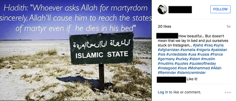"(Photo Courtesy: <a href=""http://www.theverge.com/2015/12/9/9879308/isis-instagram-islamic-state-social-media"">The Verge</a>)"